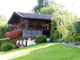 Unser Holzhaus, ein historischer Getreidekasten