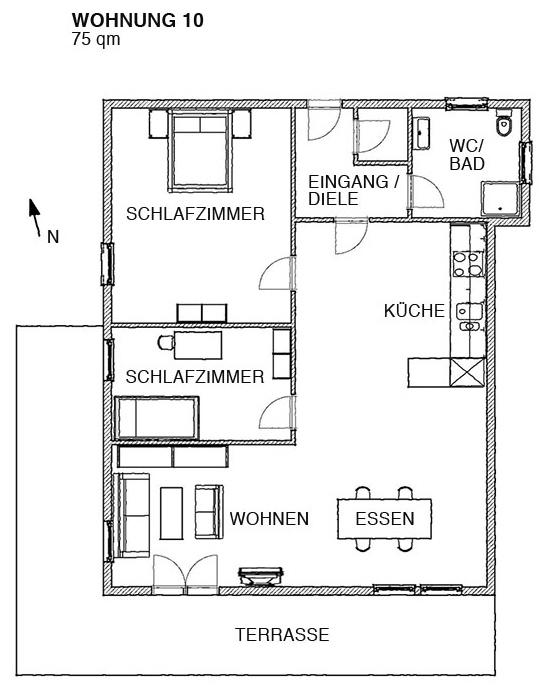 ferienwohnung 10 ferienwohnung gaestehaus. Black Bedroom Furniture Sets. Home Design Ideas