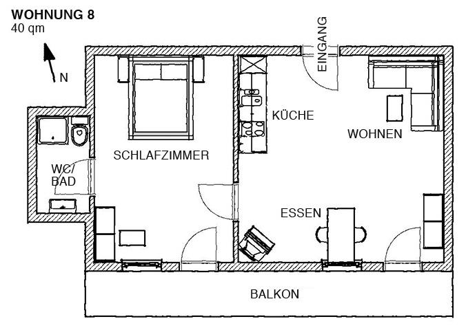ferienwohnung 8 ferienwohnung gaestehaus. Black Bedroom Furniture Sets. Home Design Ideas